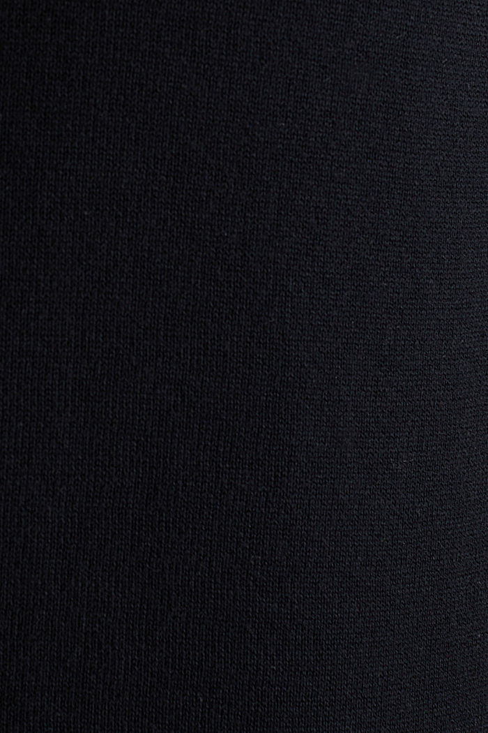 Cardigan in 100% cotton, BLACK, detail image number 4