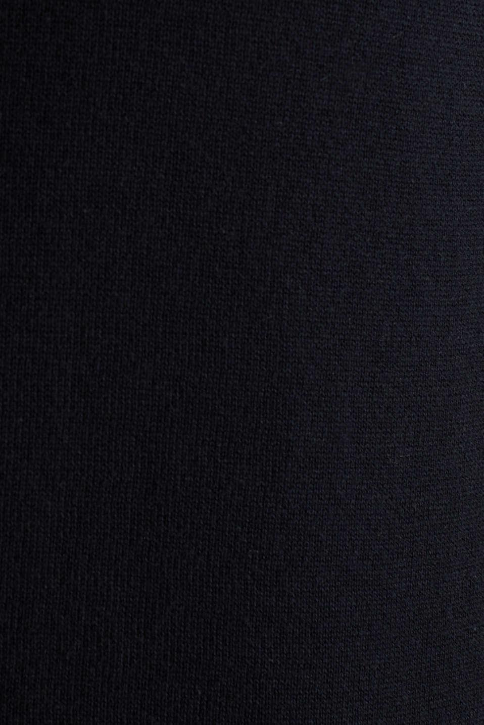 Cardigan in 100% cotton, BLACK, detail image number 4