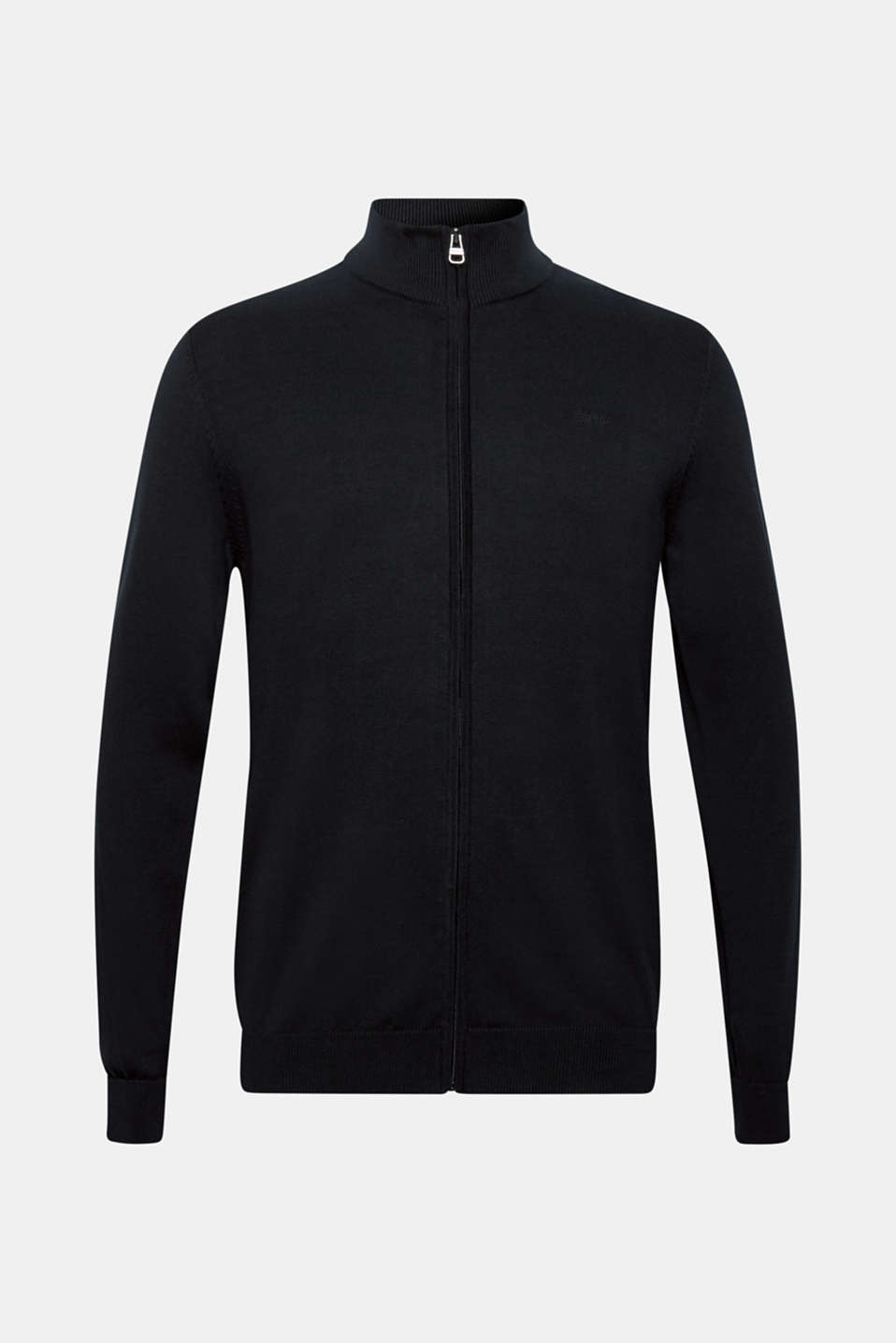 Cardigan in 100% cotton, BLACK, detail image number 5