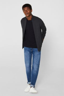 Cardigan in 100% cotton, ANTHRACITE, detail
