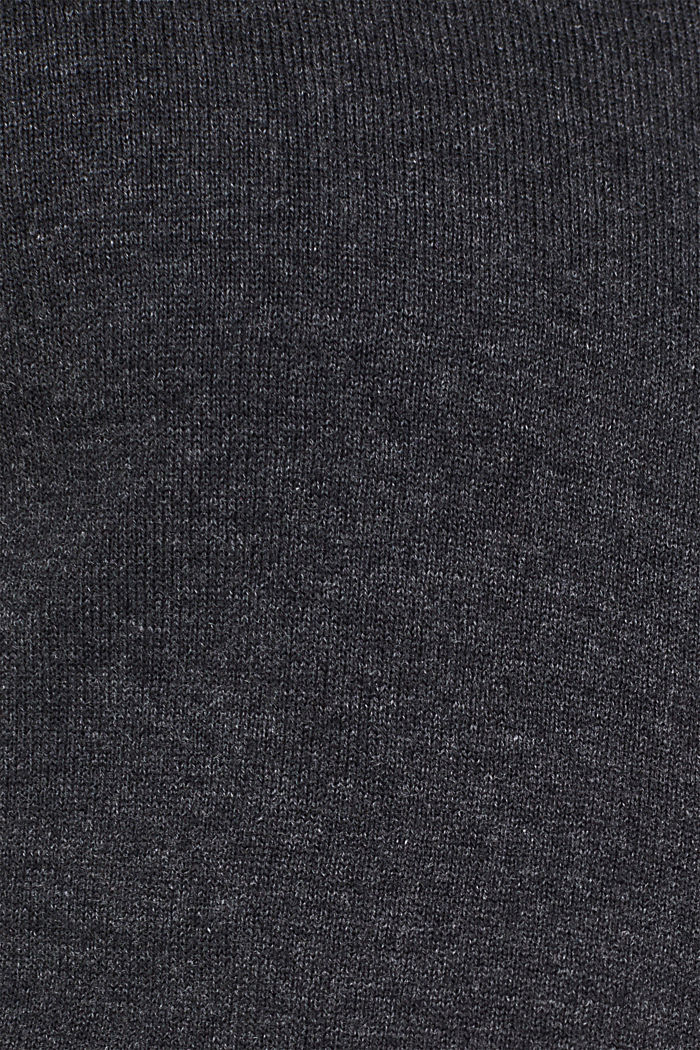 Cardigan in 100% cotton, ANTHRACITE, detail image number 4