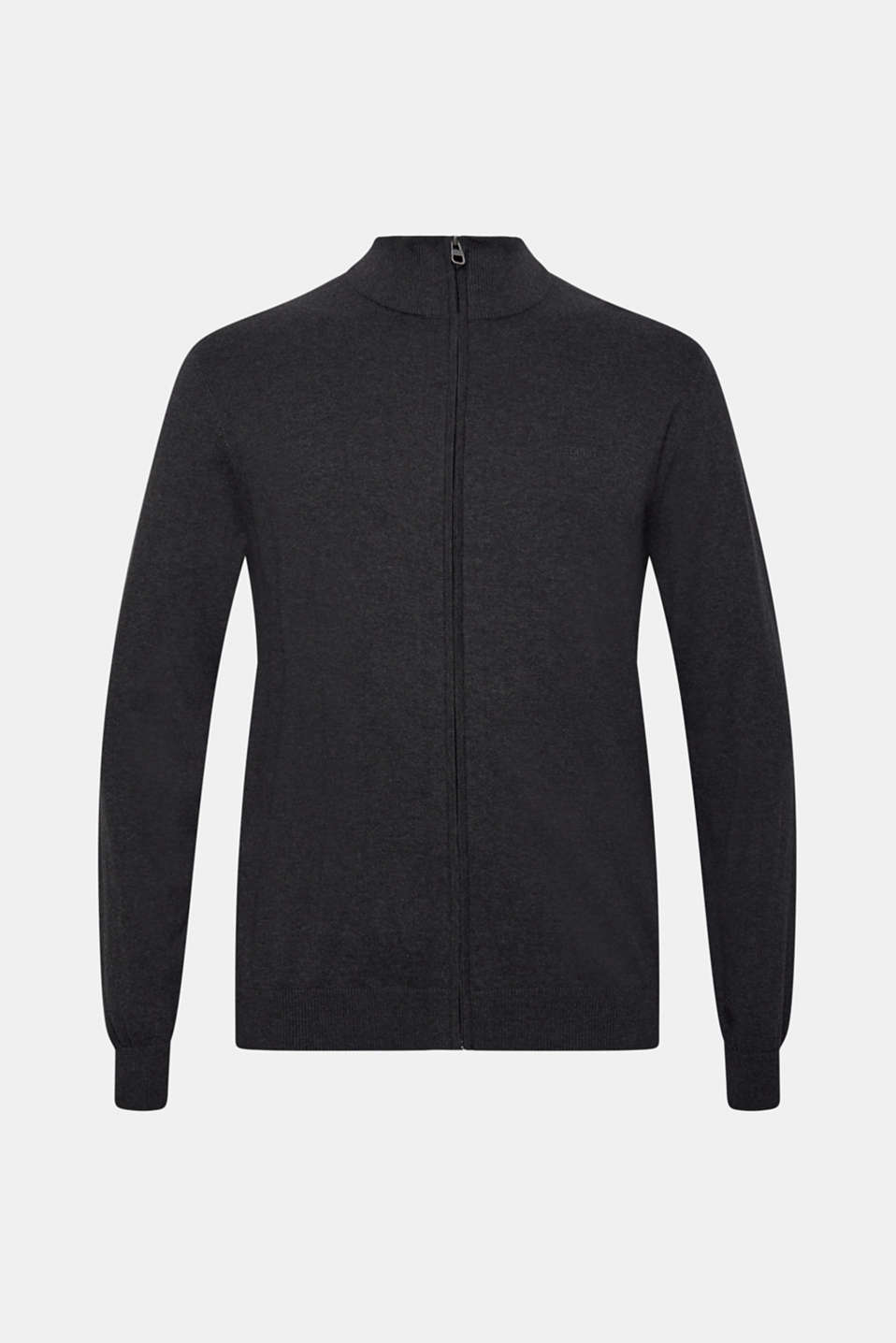 Cardigan in 100% cotton, ANTHRACITE, detail image number 7