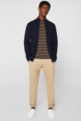 Cardigan in 100% cotton, NAVY, detail