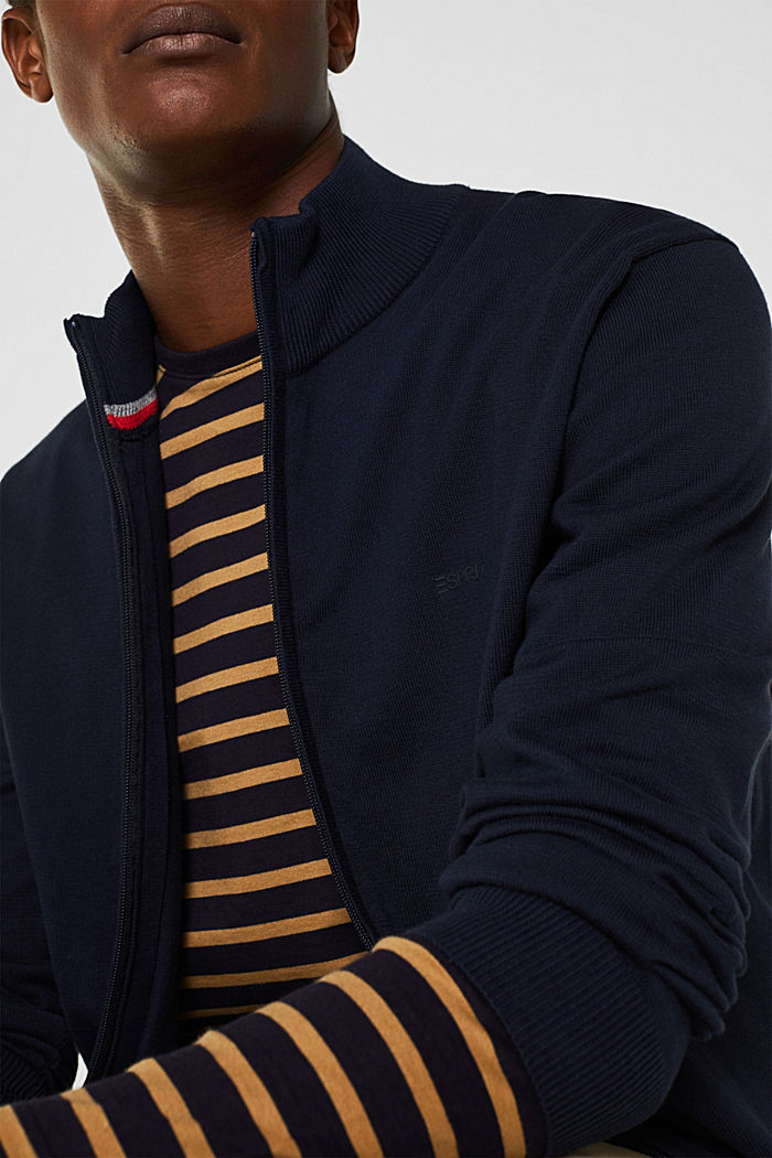 Cardigan aus 100% Baumwolle, NAVY, detail image number 2