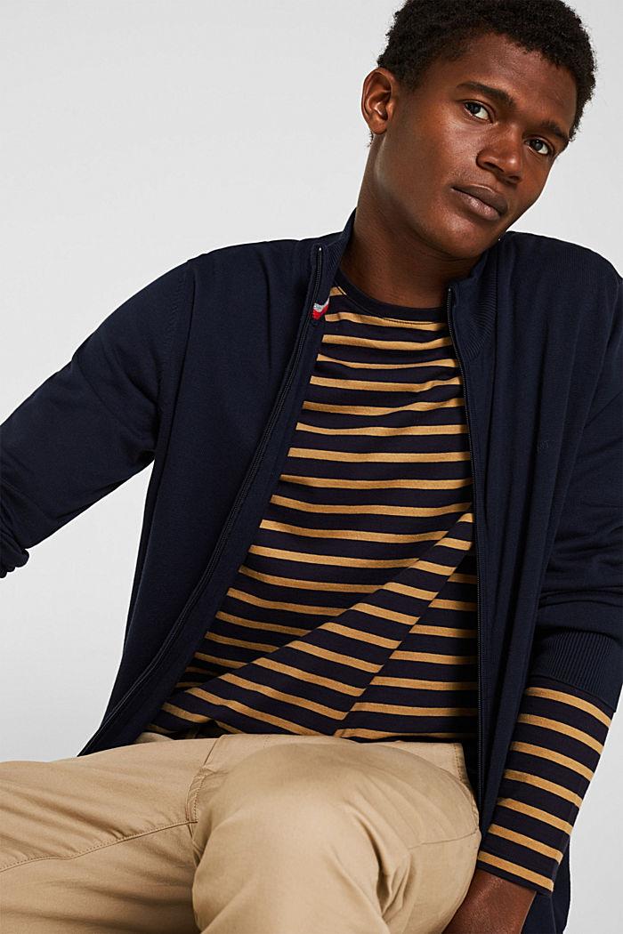 Cardigan aus 100% Baumwolle, NAVY, detail image number 5