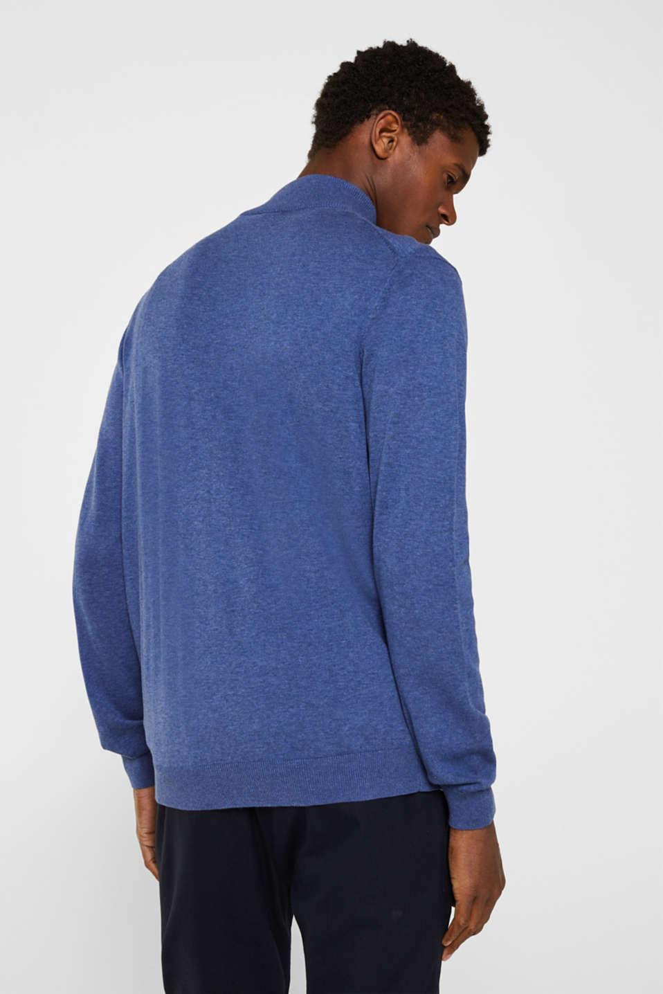 Cardigan in 100% cotton, DARK BLUE, detail image number 2