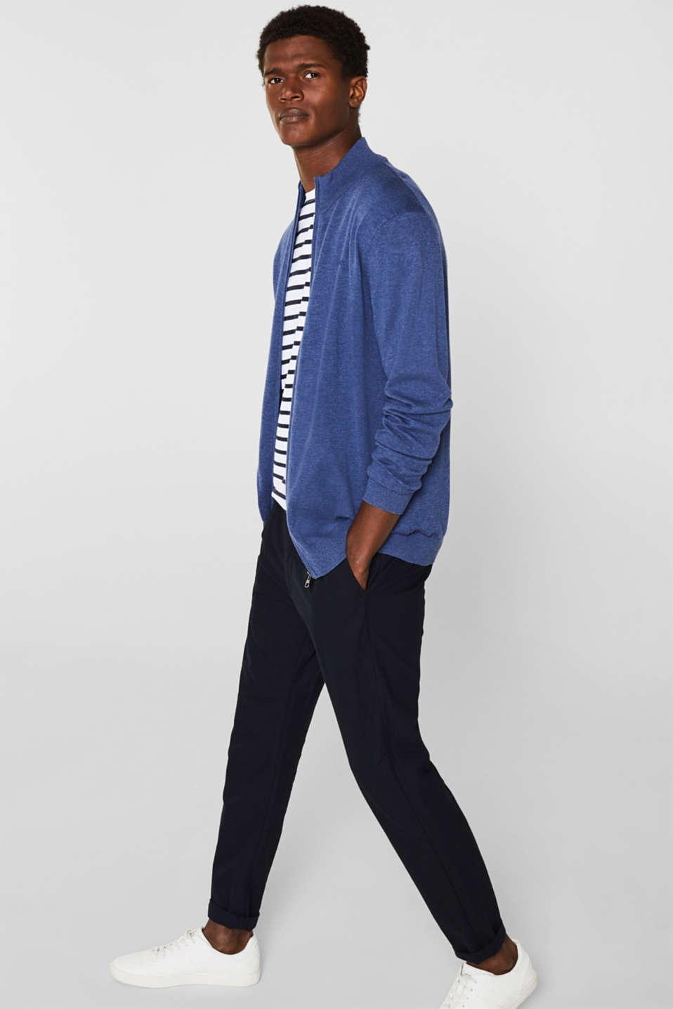 Cardigan in 100% cotton, DARK BLUE, detail image number 7