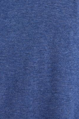 Cardigan in 100% cotton, DARK BLUE, detail