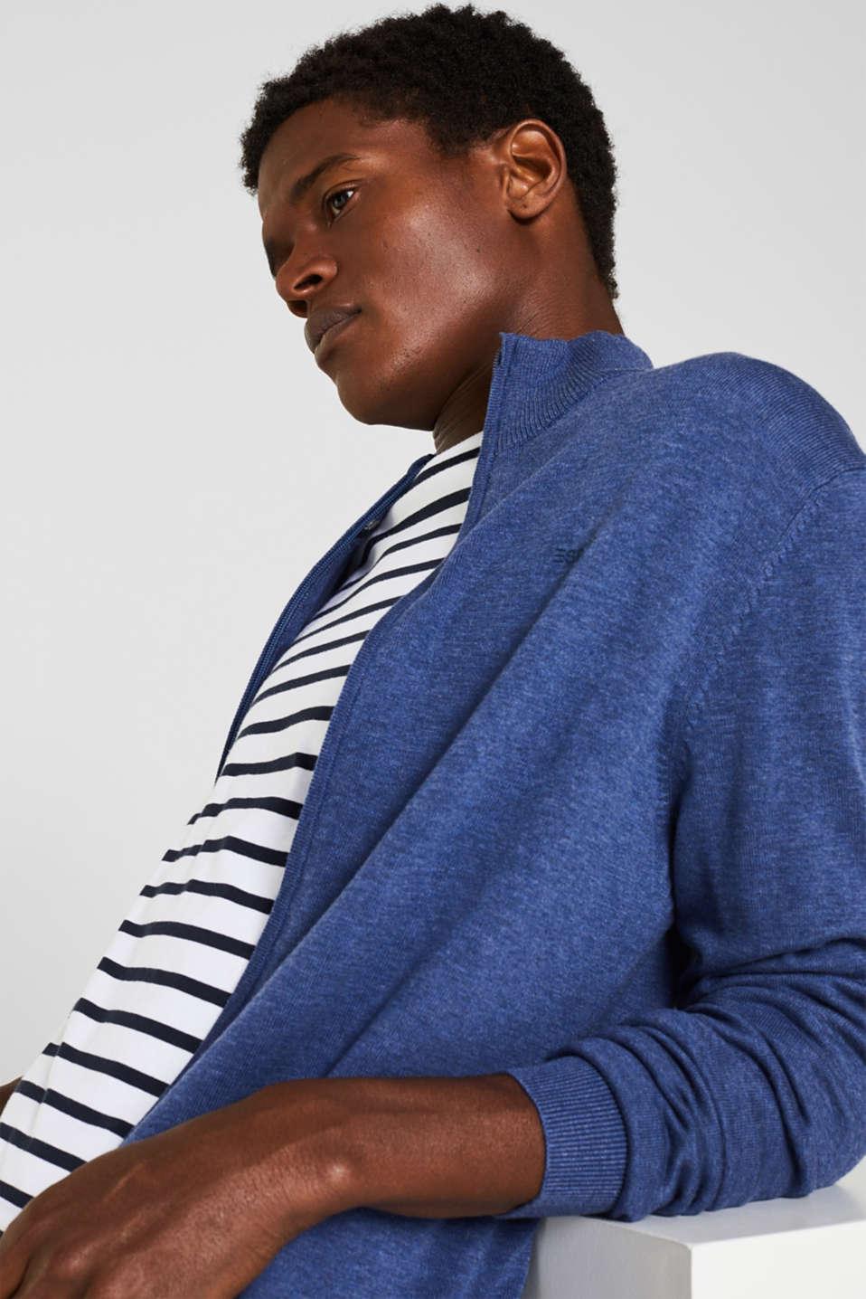 Cardigan in 100% cotton, DARK BLUE, detail image number 5