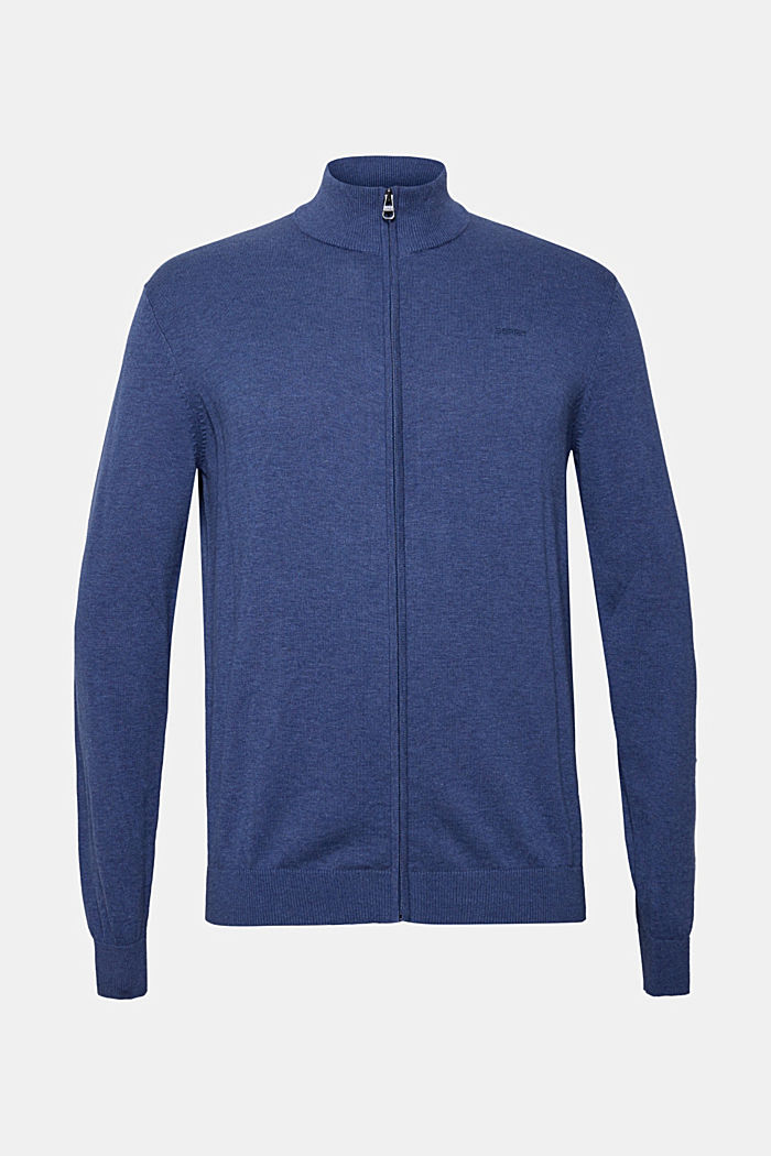 Cardigan in 100% cotton, DARK BLUE, detail image number 6