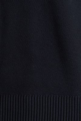 Piqué jumper, 100% cotton, BLACK, detail