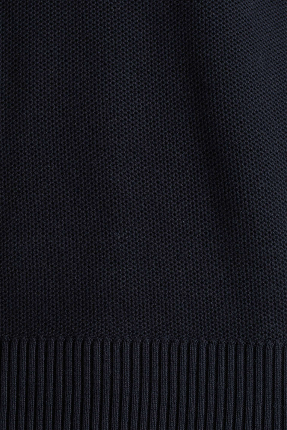 Piqué jumper, 100% cotton, BLACK, detail image number 3