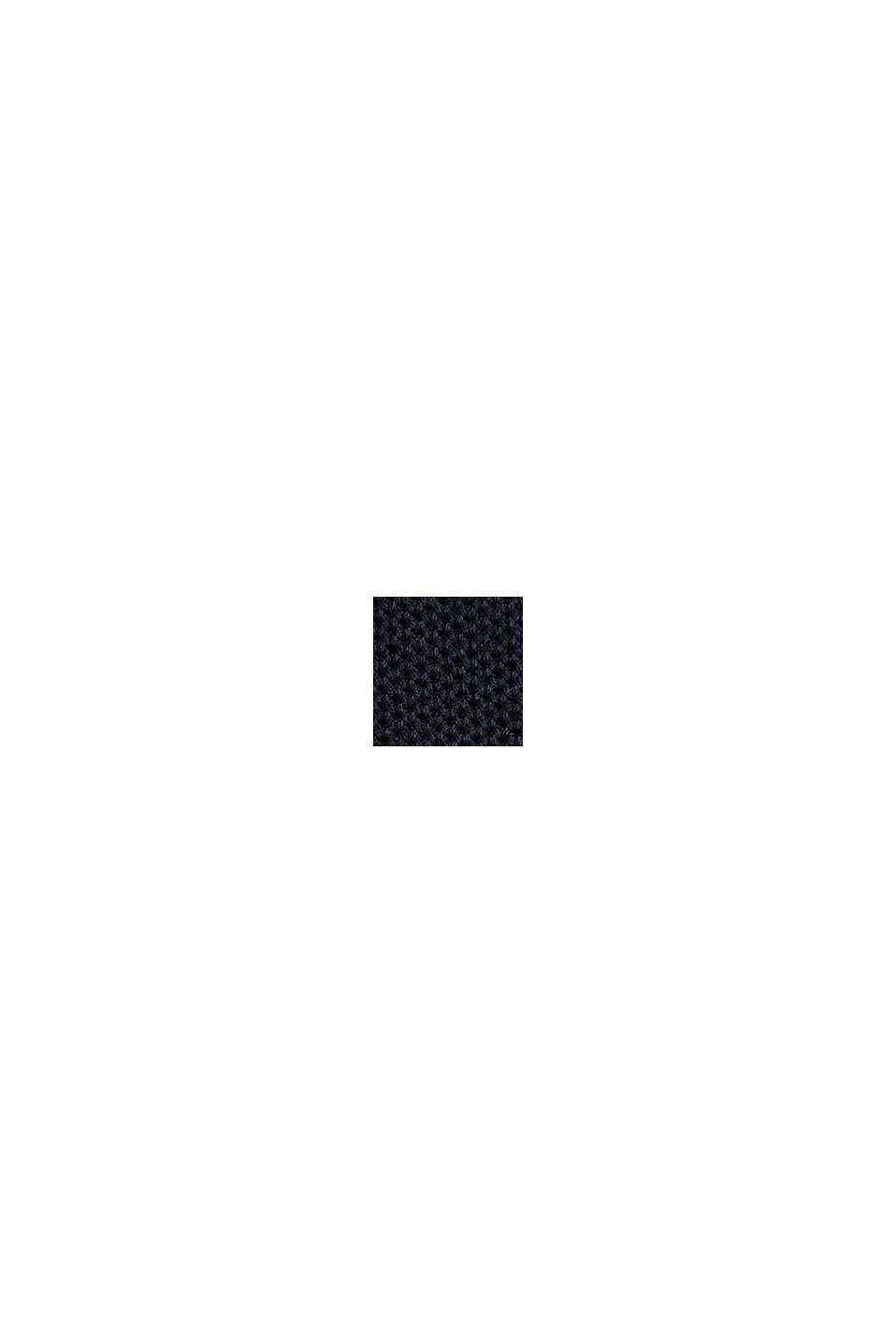 Piqué-Pullover, 100% Baumwolle, BLACK, swatch