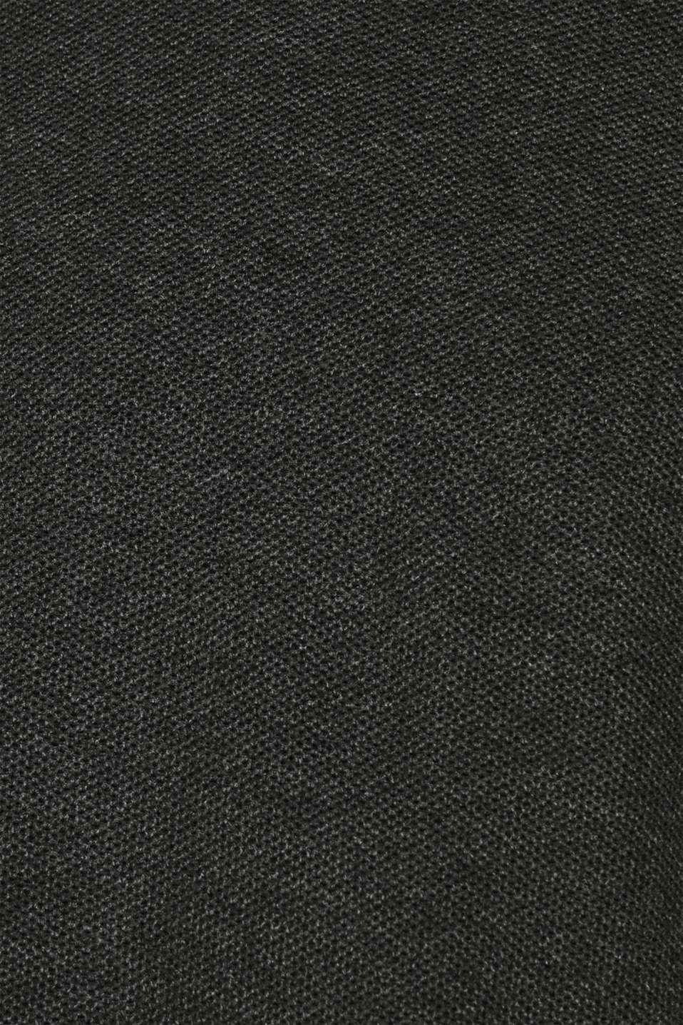 Jumper with a waffle pattern, 100% cotton, DARK GREY, detail image number 4