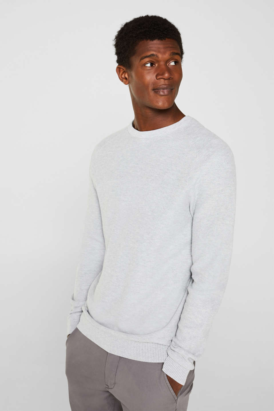 Sweaters, LIGHT GREY, detail image number 0