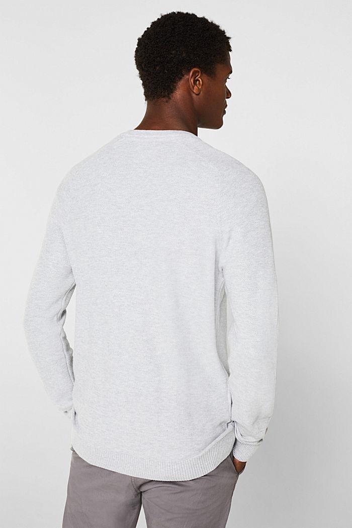 Piqué jumper, 100% cotton, LIGHT GREY, detail image number 2