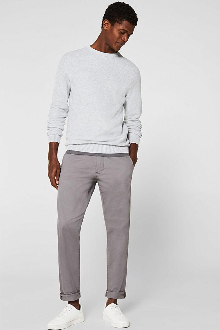 Piqué jumper, 100% cotton, LIGHT GREY, detail image number 1