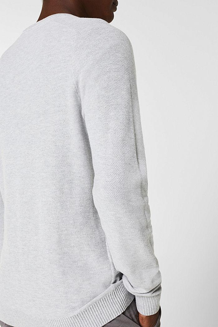 Piqué jumper, 100% cotton, LIGHT GREY, detail image number 4