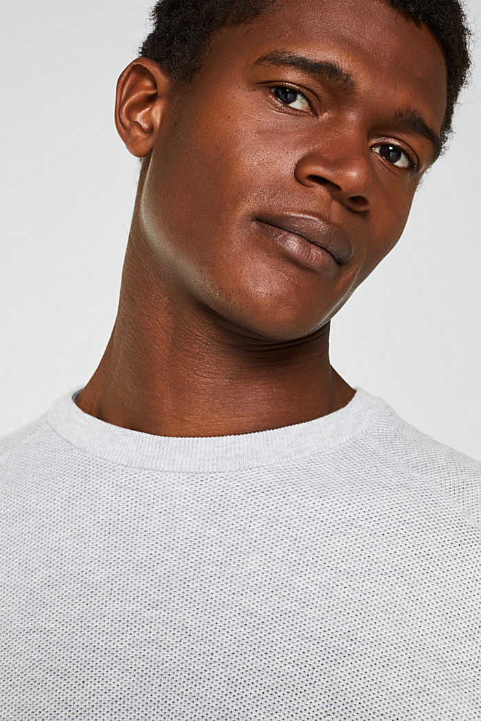 Piqué jumper, 100% cotton, LIGHT GREY, detail image number 3