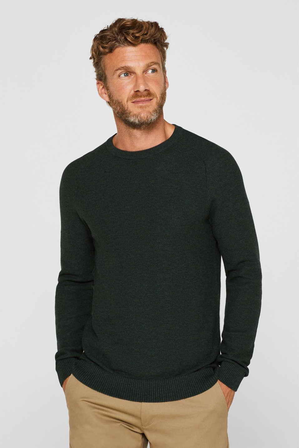 Sweaters, DARK GREEN, detail image number 0