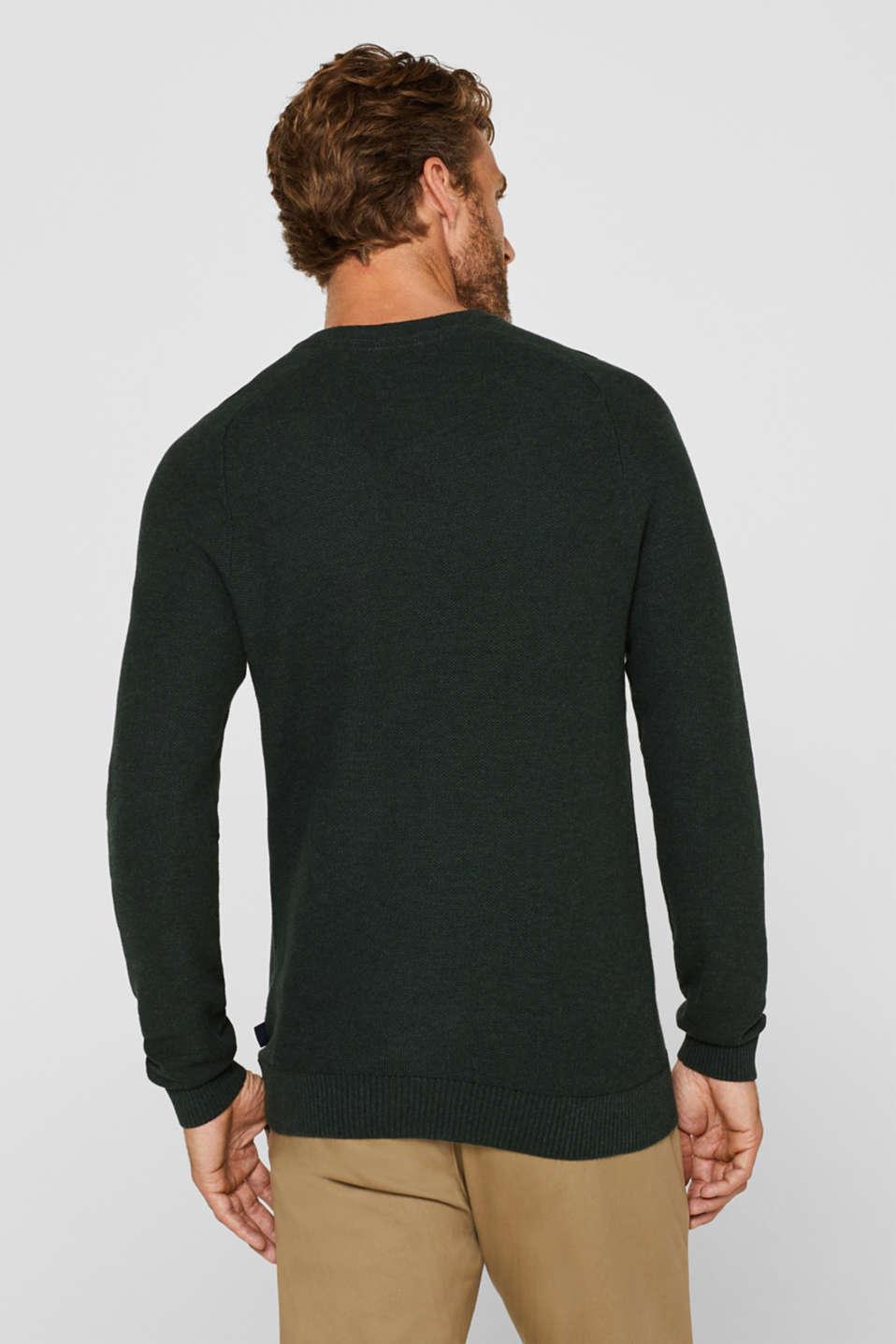 Sweaters, DARK GREEN, detail image number 3