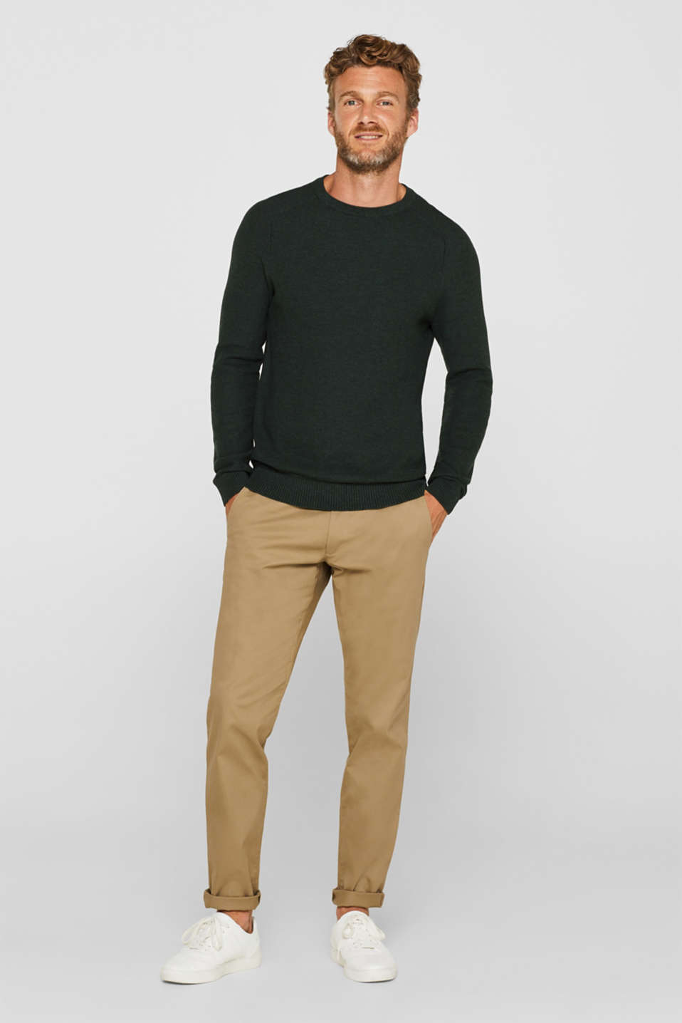 Sweaters, DARK GREEN, detail image number 1