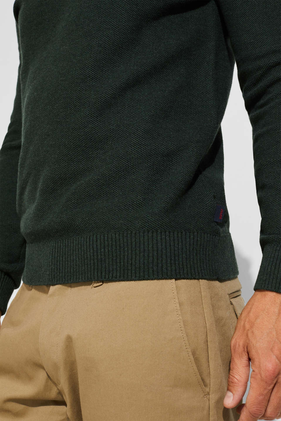 Sweaters, DARK GREEN, detail image number 2