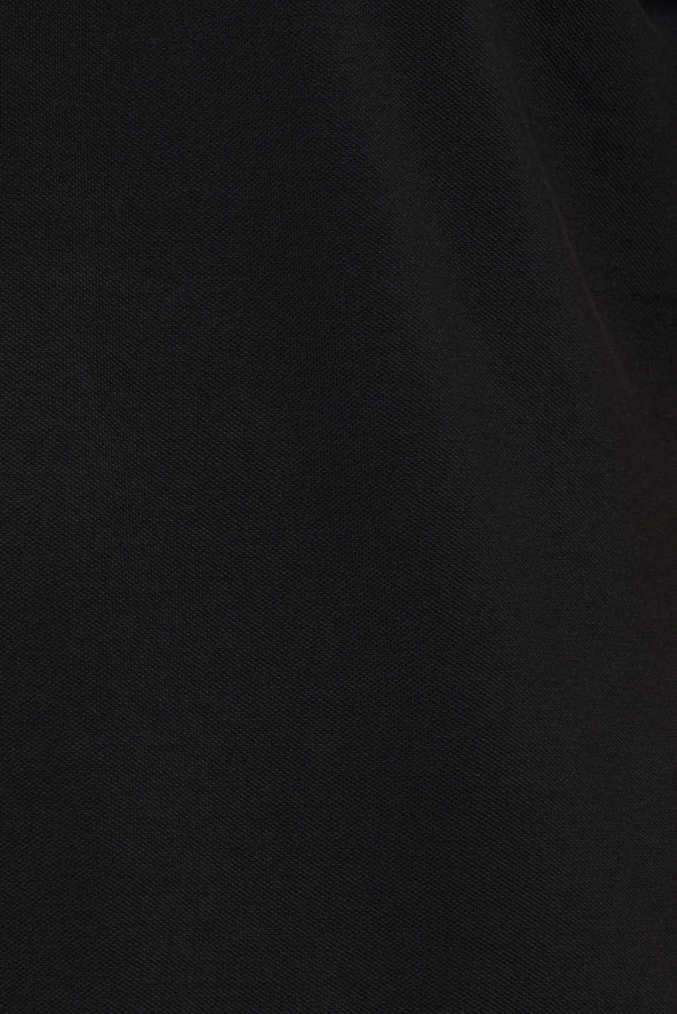 Piqué polo shirt in 100% cotton, BLACK, detail image number 4