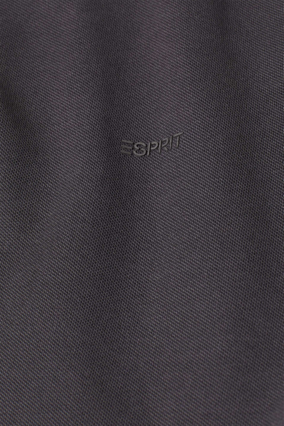 Piqué polo shirt in 100% cotton, DARK GREY, detail image number 4