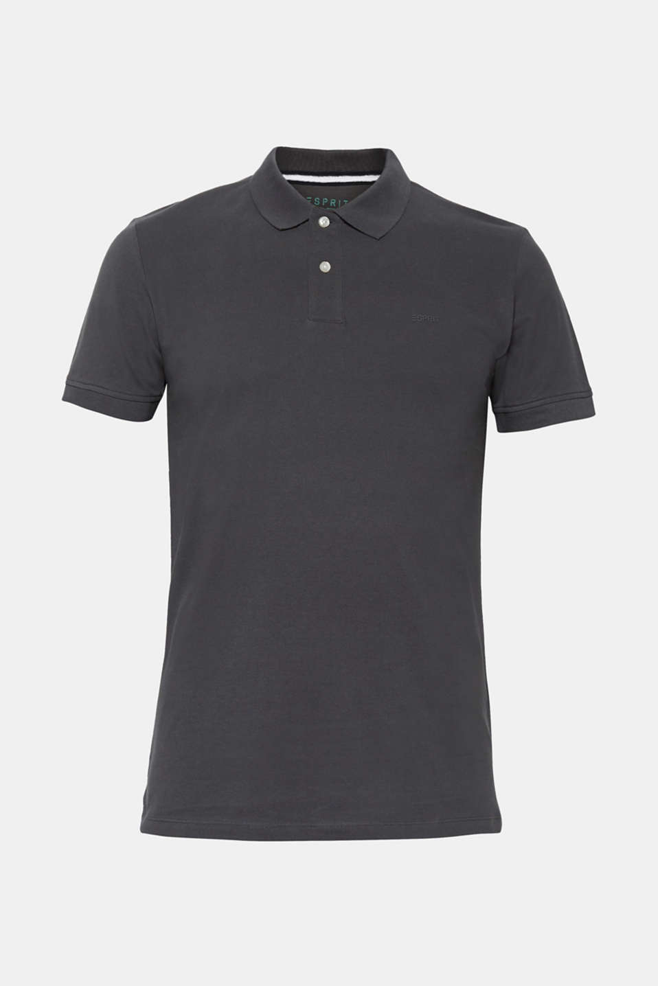 Piqué polo shirt in 100% cotton, DARK GREY, detail image number 6