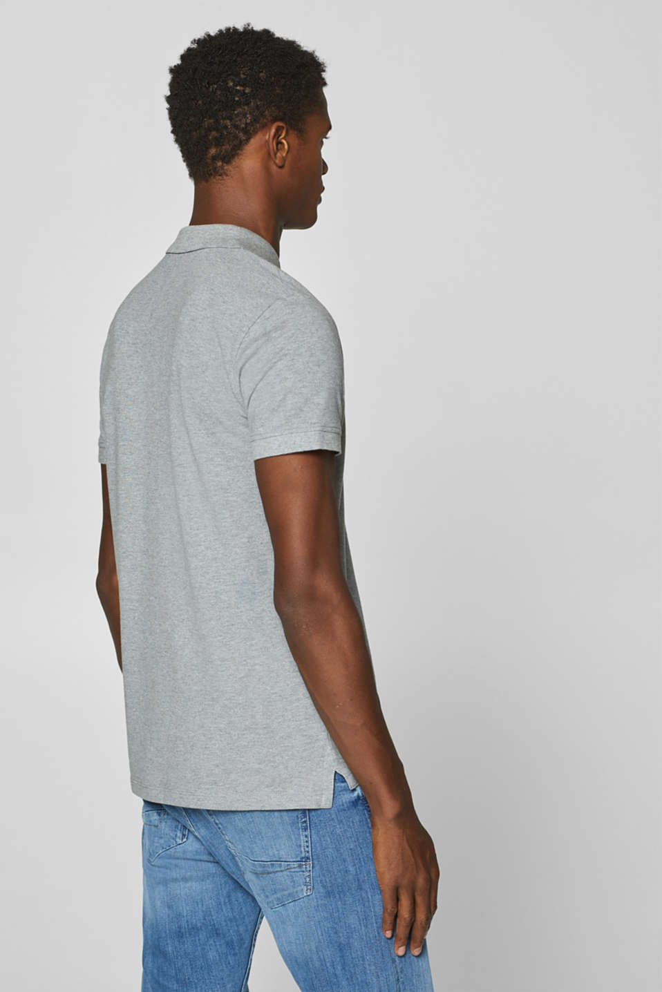 Piqué polo shirt in 100% cotton, MEDIUM GREY, detail image number 3