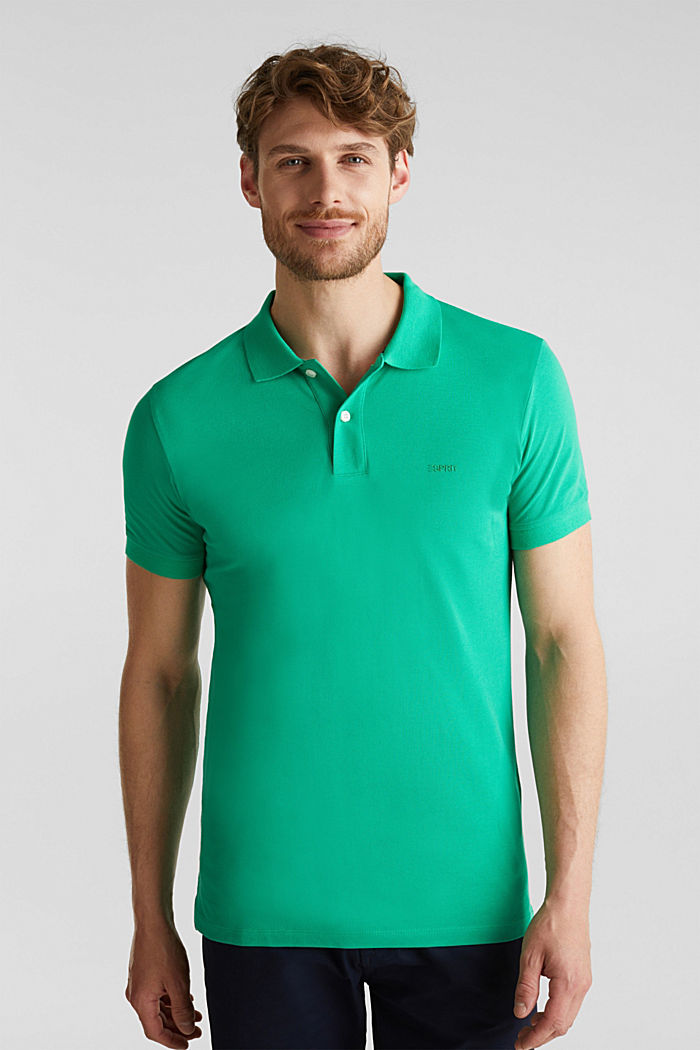 Piqué-Poloshirt aus 100% Baumwolle