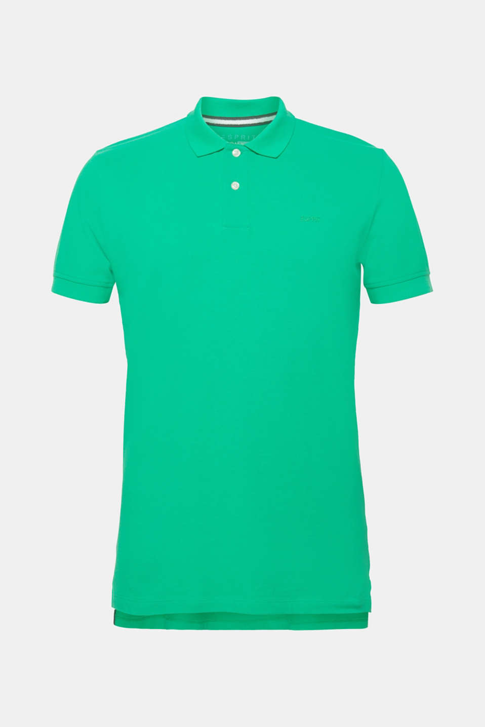 Piqué polo shirt in 100% cotton, GREEN, detail image number 5
