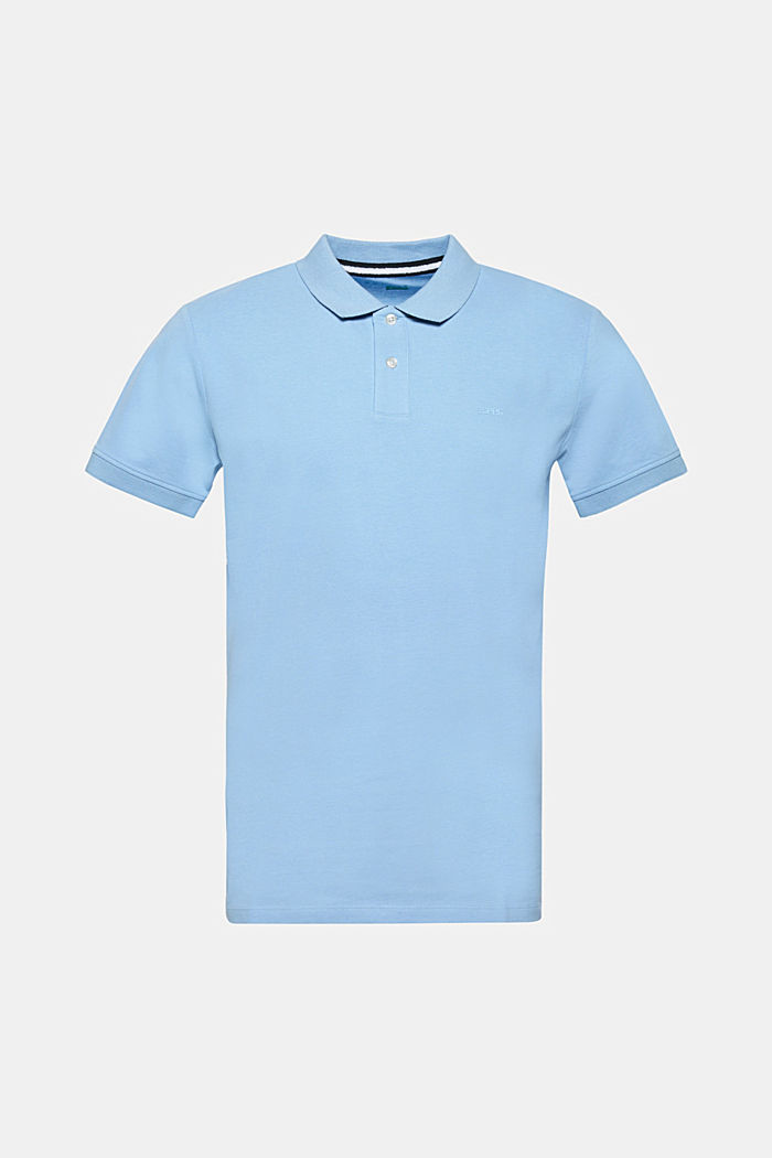 Piqué polo shirt in 100% cotton, LIGHT BLUE, detail image number 0