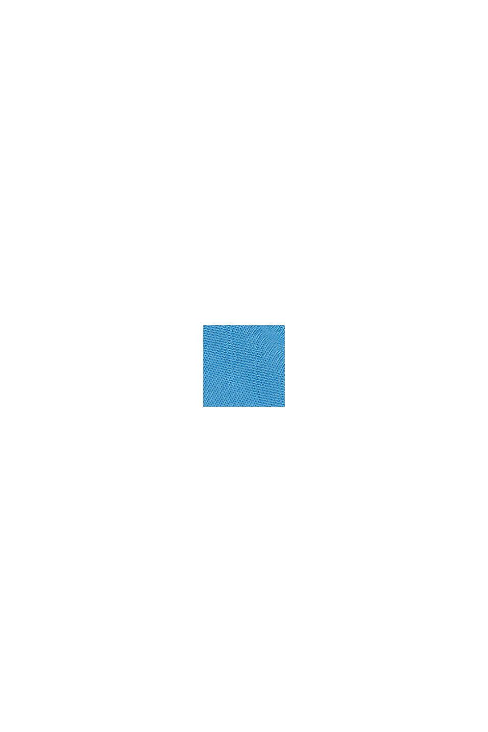 Polo en piqué en 100% coton, PETROL BLUE, swatch