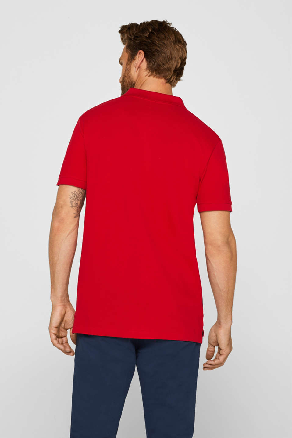 Polo shirts, RED, detail image number 3
