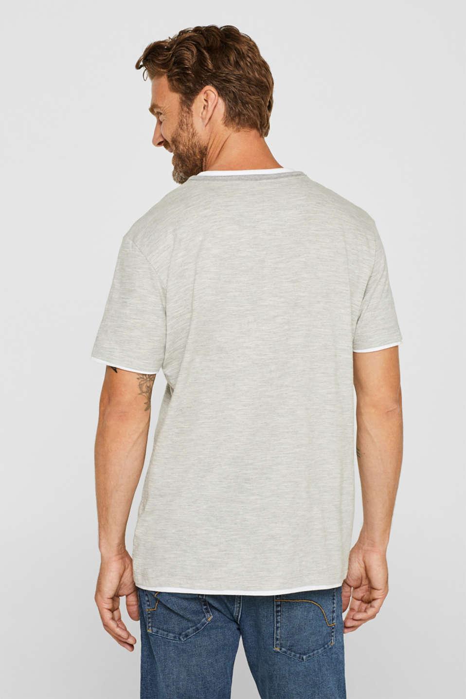 Layered slub jersey T-shirt, MEDIUM GREY, detail image number 3