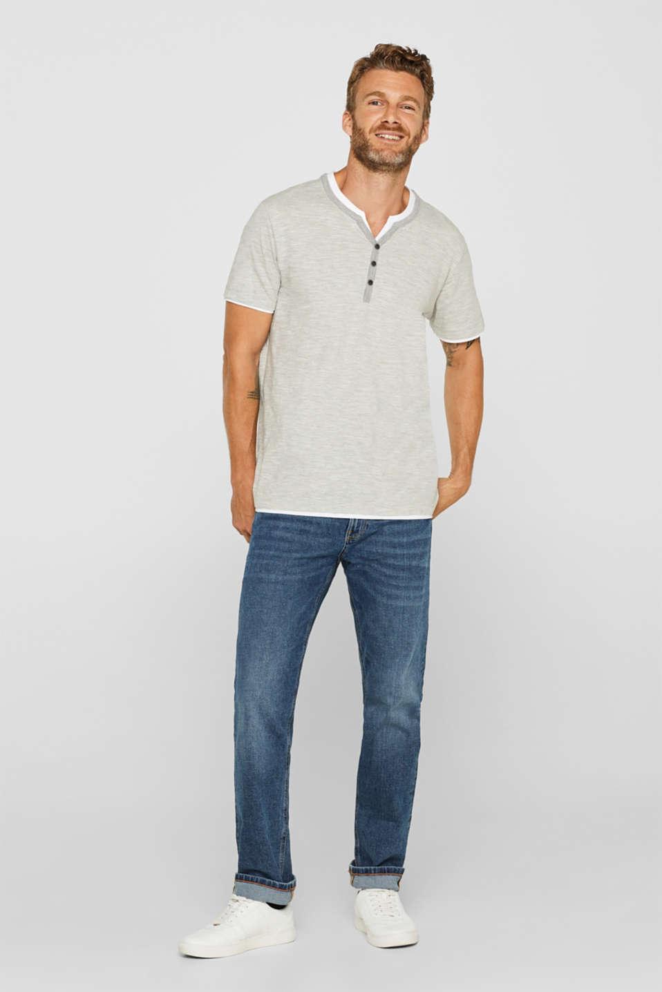 Layered slub jersey T-shirt, MEDIUM GREY, detail image number 2