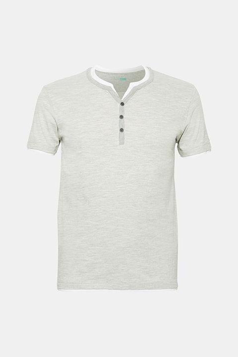 Layered slub jersey T-shirt