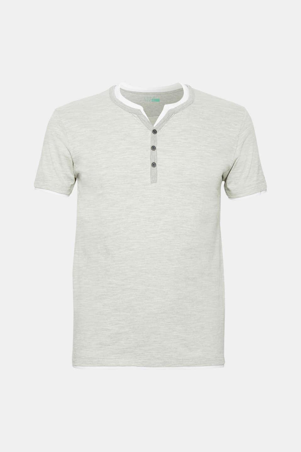 Layered slub jersey T-shirt, MEDIUM GREY, detail image number 6