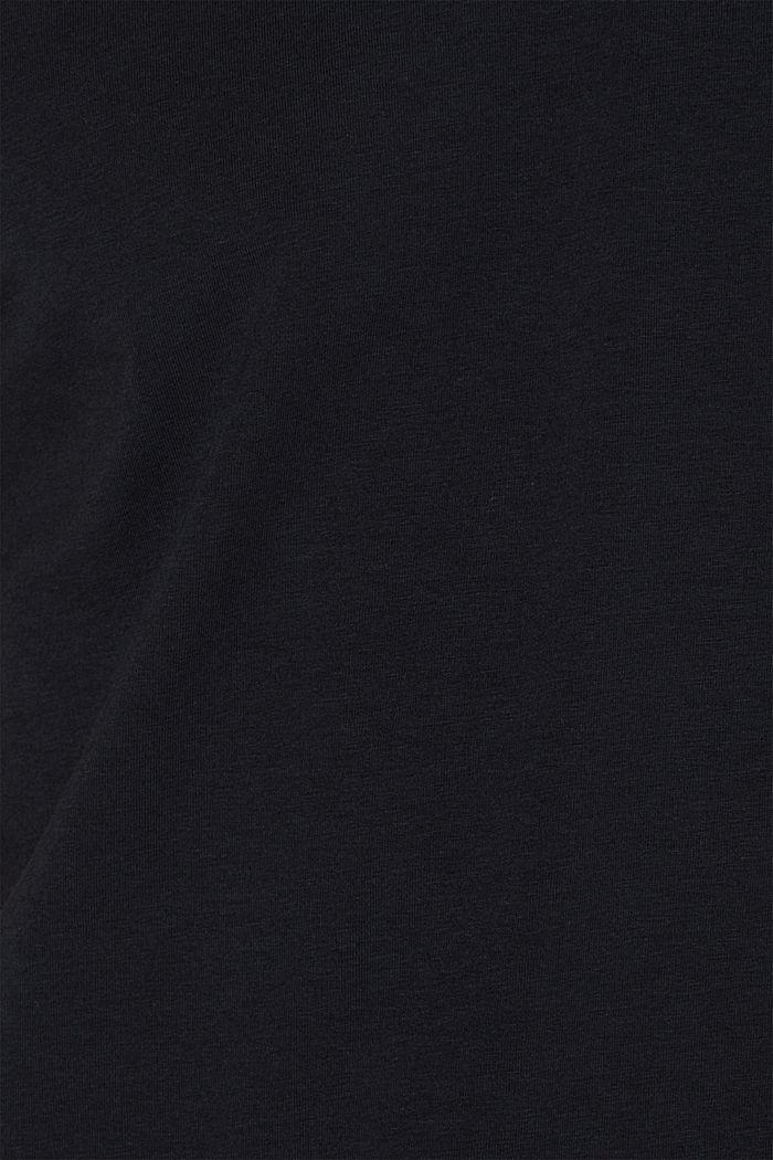 Jersey shirt van elastisch katoen, BLACK, detail image number 1