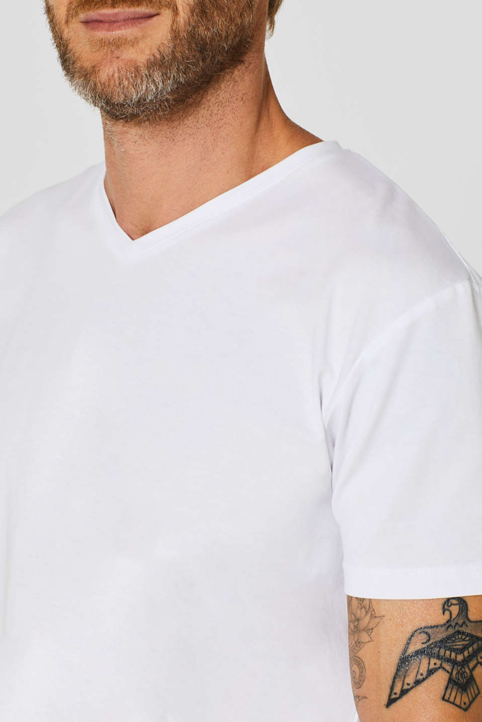 Jersey T-shirt in stretch cotton, WHITE, detail image number 1