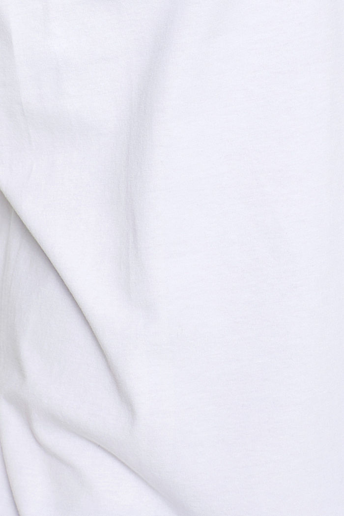 Jersey T-shirt in stretch cotton, WHITE, detail image number 4