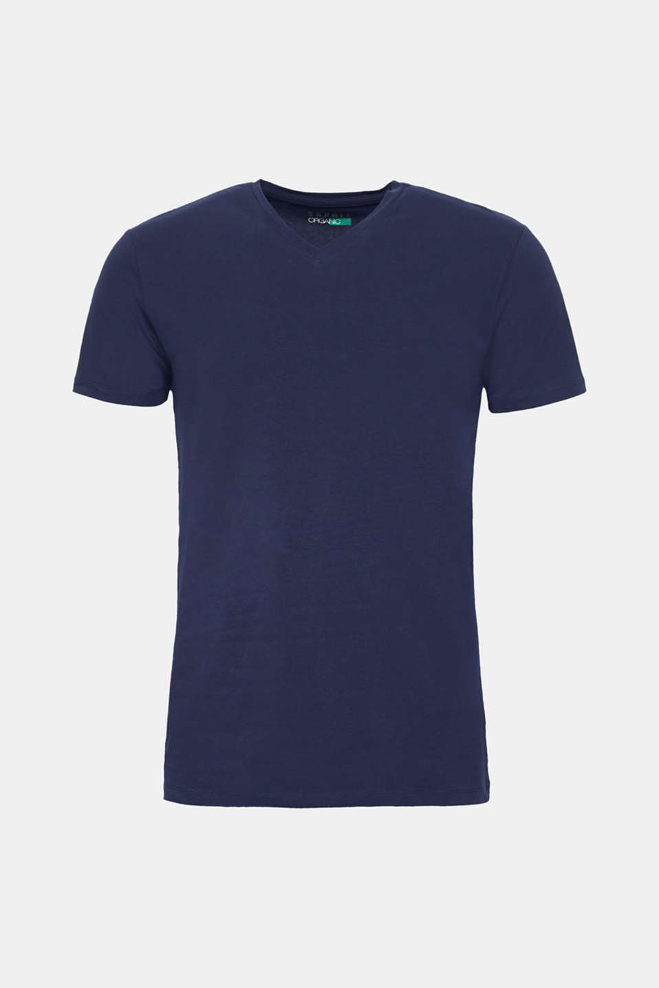 Jersey T-shirt in stretch cotton, NAVY, detail image number 6