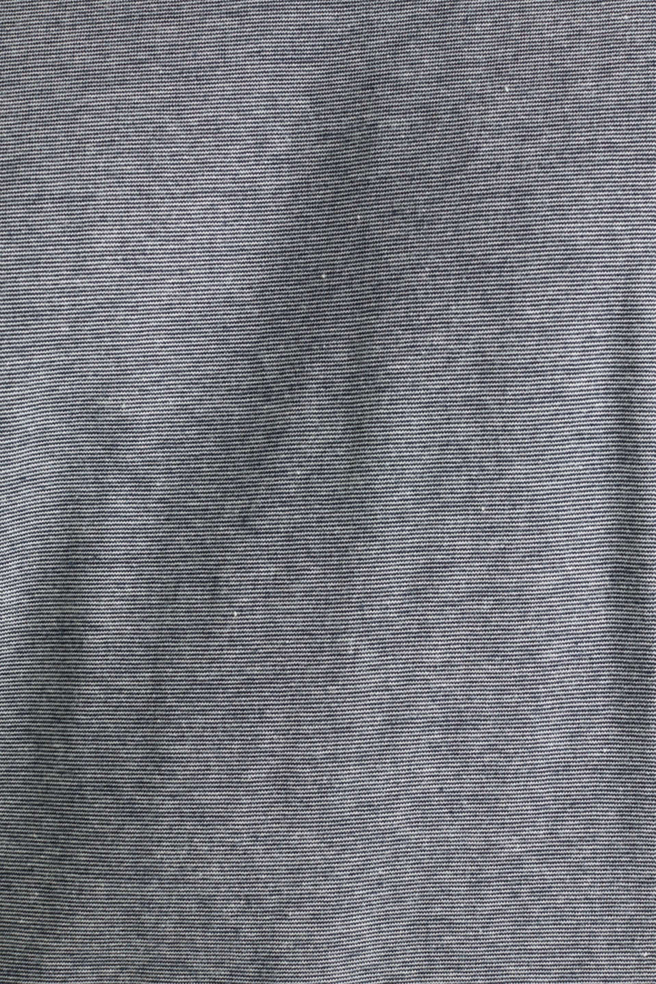 Layered jersey top, 100% cotton, NAVY, detail image number 4