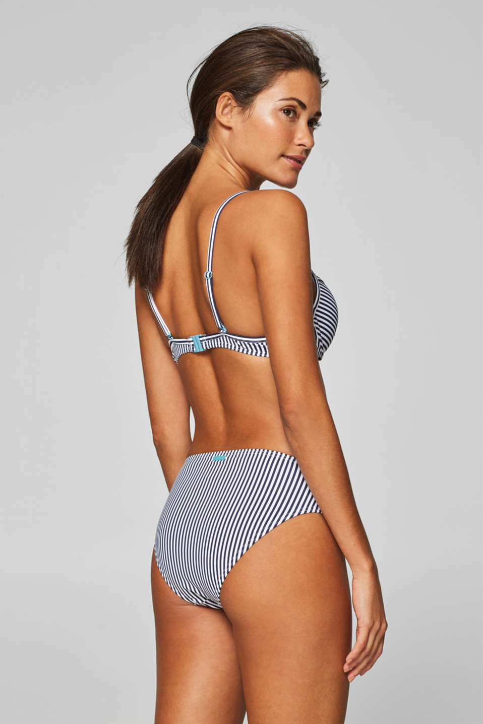 Push-up top with a striped print, NAVY, detail image number 1