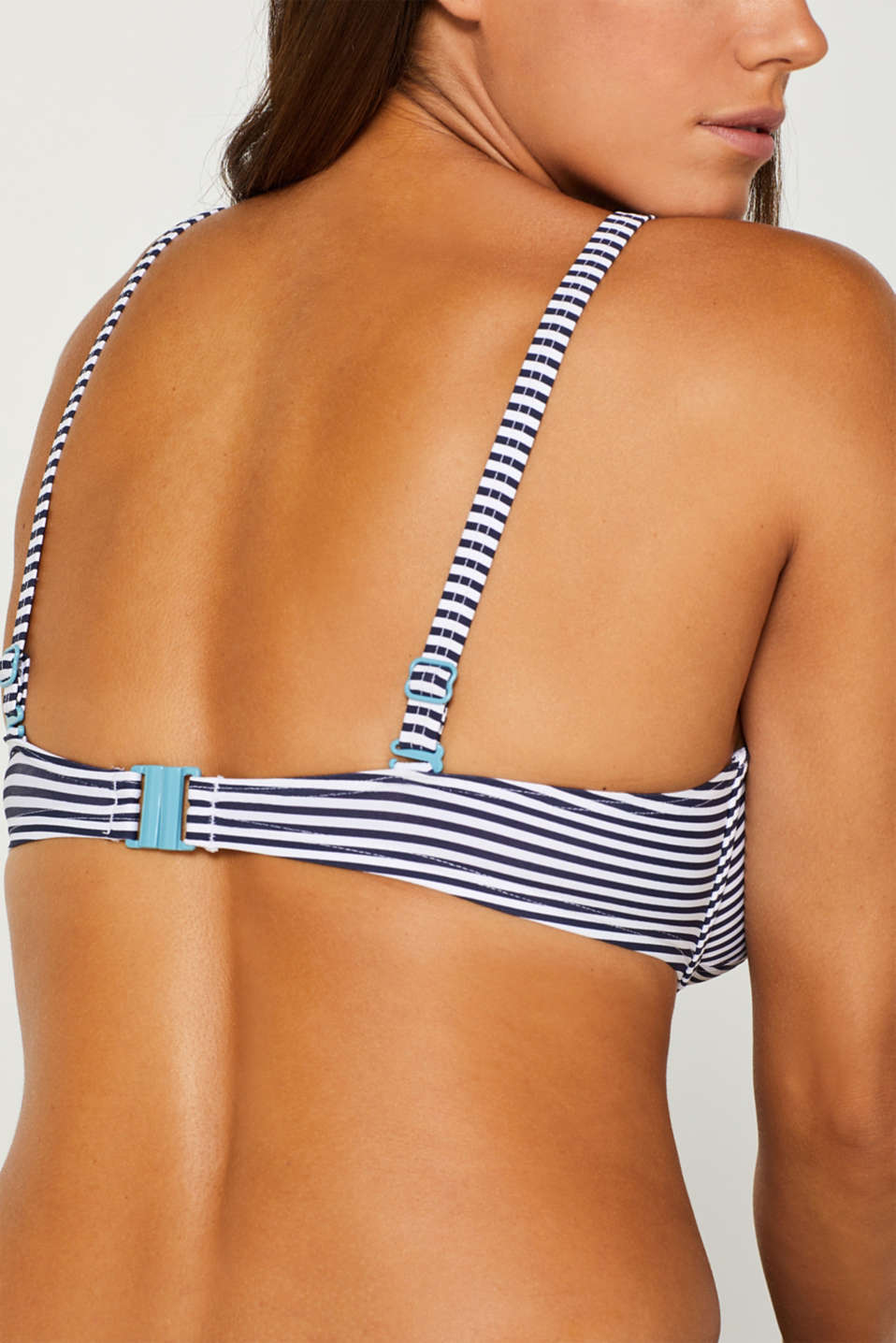 Unpadded underwire top for larger cups, NAVY, detail image number 4