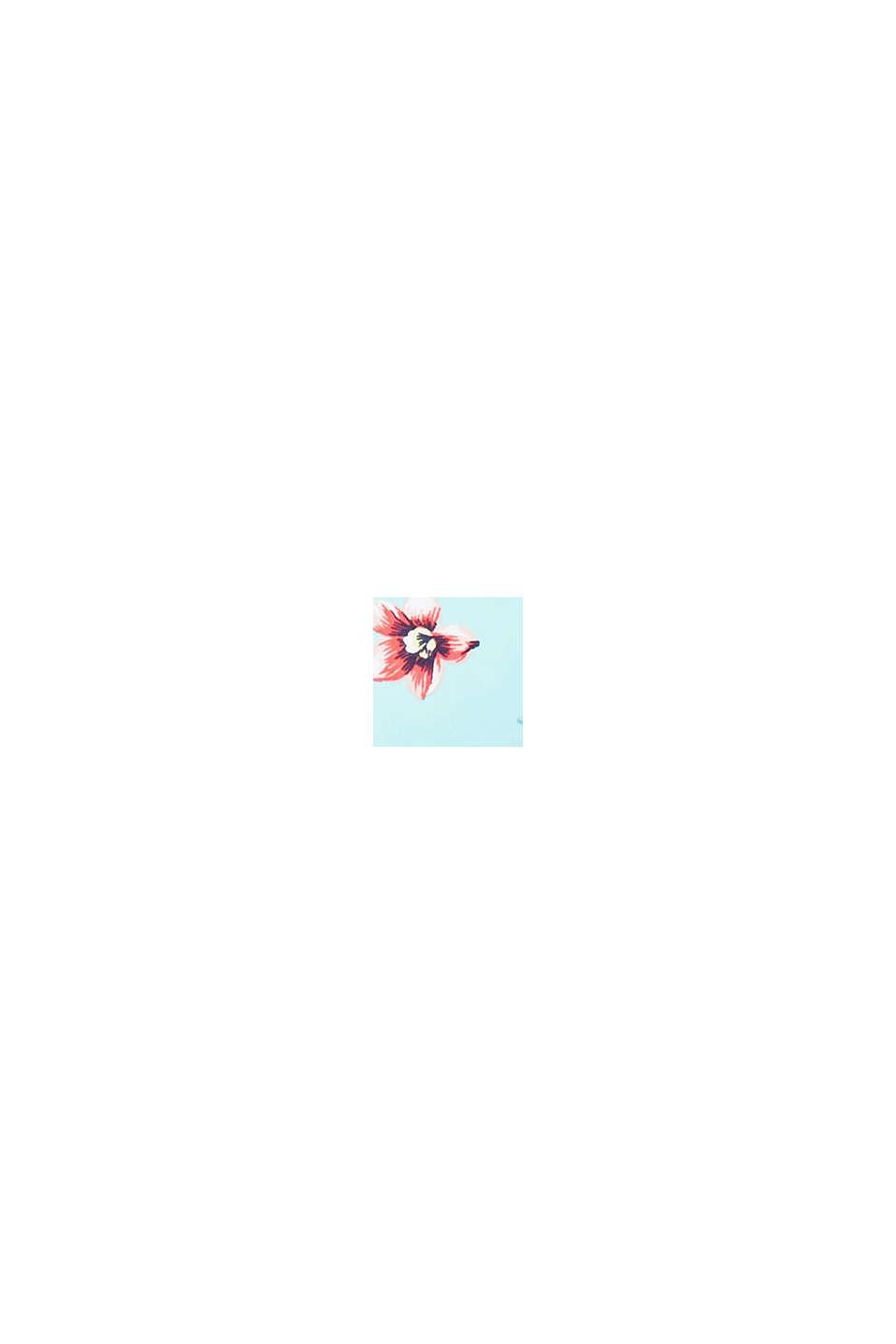 Wattiertes Bandeau-Top mit abnehmbarem Neckholder, TURQUOISE, swatch