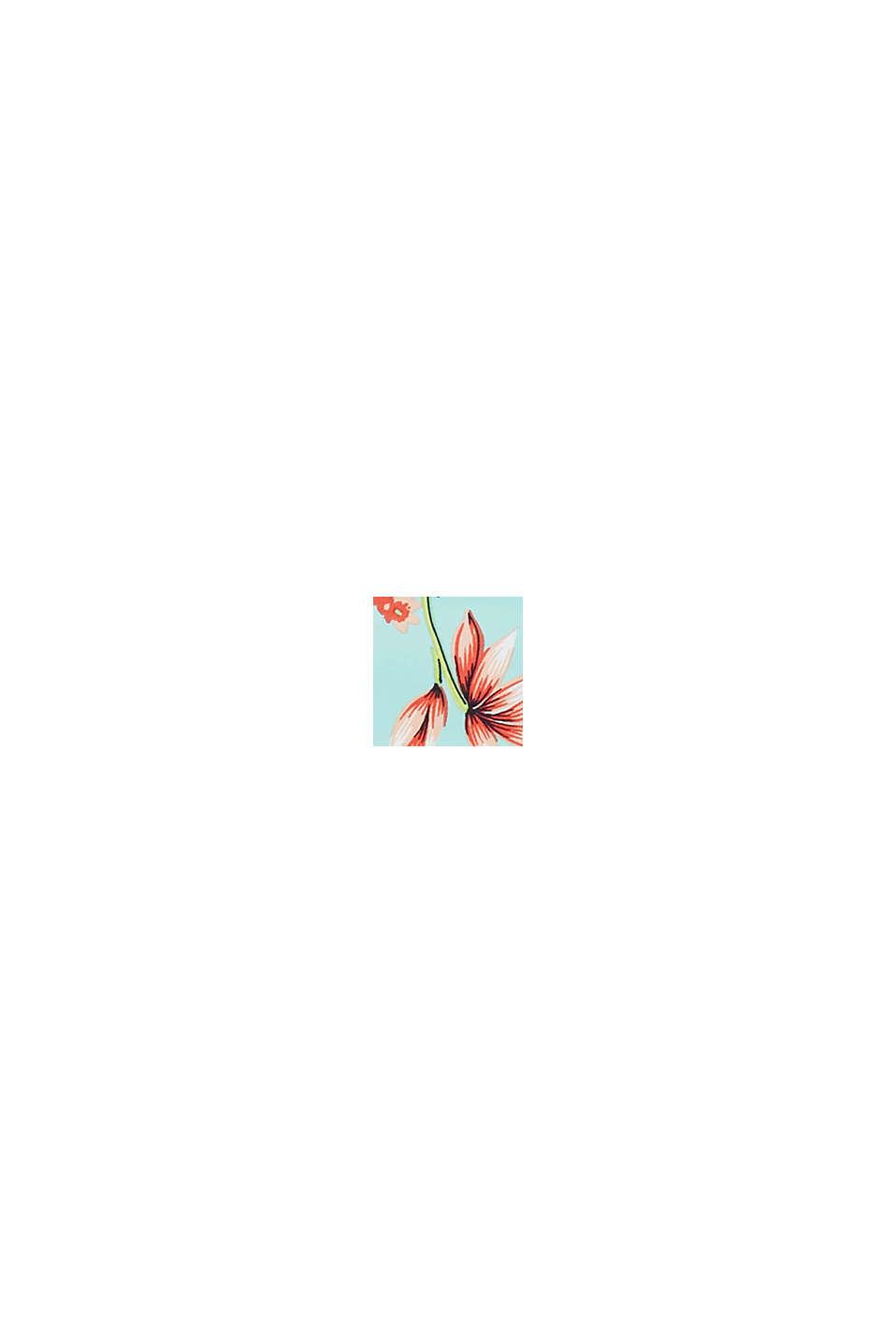 Braguita con estampado de flores de hibisco, TURQUOISE, swatch
