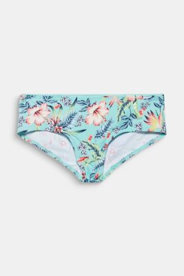 Hipster shorts with hibiscus blossom print, TURQUOISE, detail